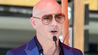 HOLLYWOOD, CA - JULY 15:  Pitbull Honored With Star On The Hollywood Walk Of Fame on July 15, 2016 in Hollywood, California.  (Photo by Albert L. Ortega/Getty Images)