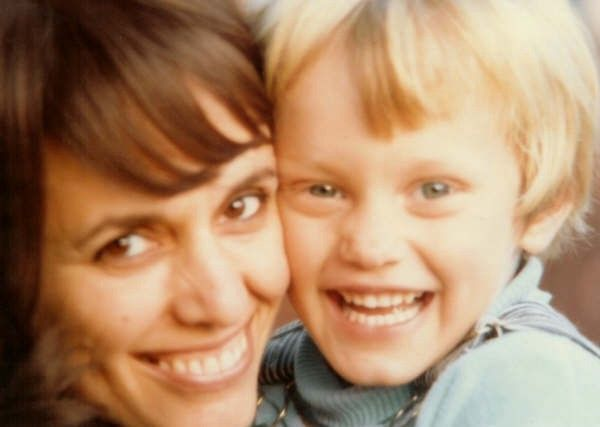 Ms. Michelle Mehlhorn and her son Dmitri, circa 1970s