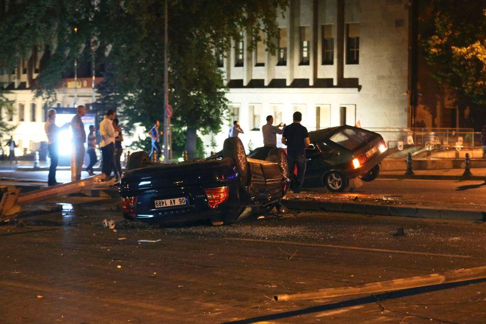 Wreckage in Ankara.