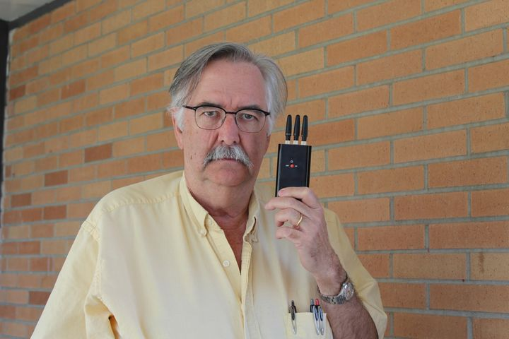 Burlington (Vt.) High School Social Studies teacher Ron MacNeil is one of many staff who are frustrated with cellphone use in