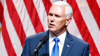 US Republican vice presidential candidate Mike Pence speaks in New York on July 16, 2016, during a press conference.   / AFP / KENA BETANCUR        (Photo credit should read KENA BETANCUR/AFP/Getty Images)