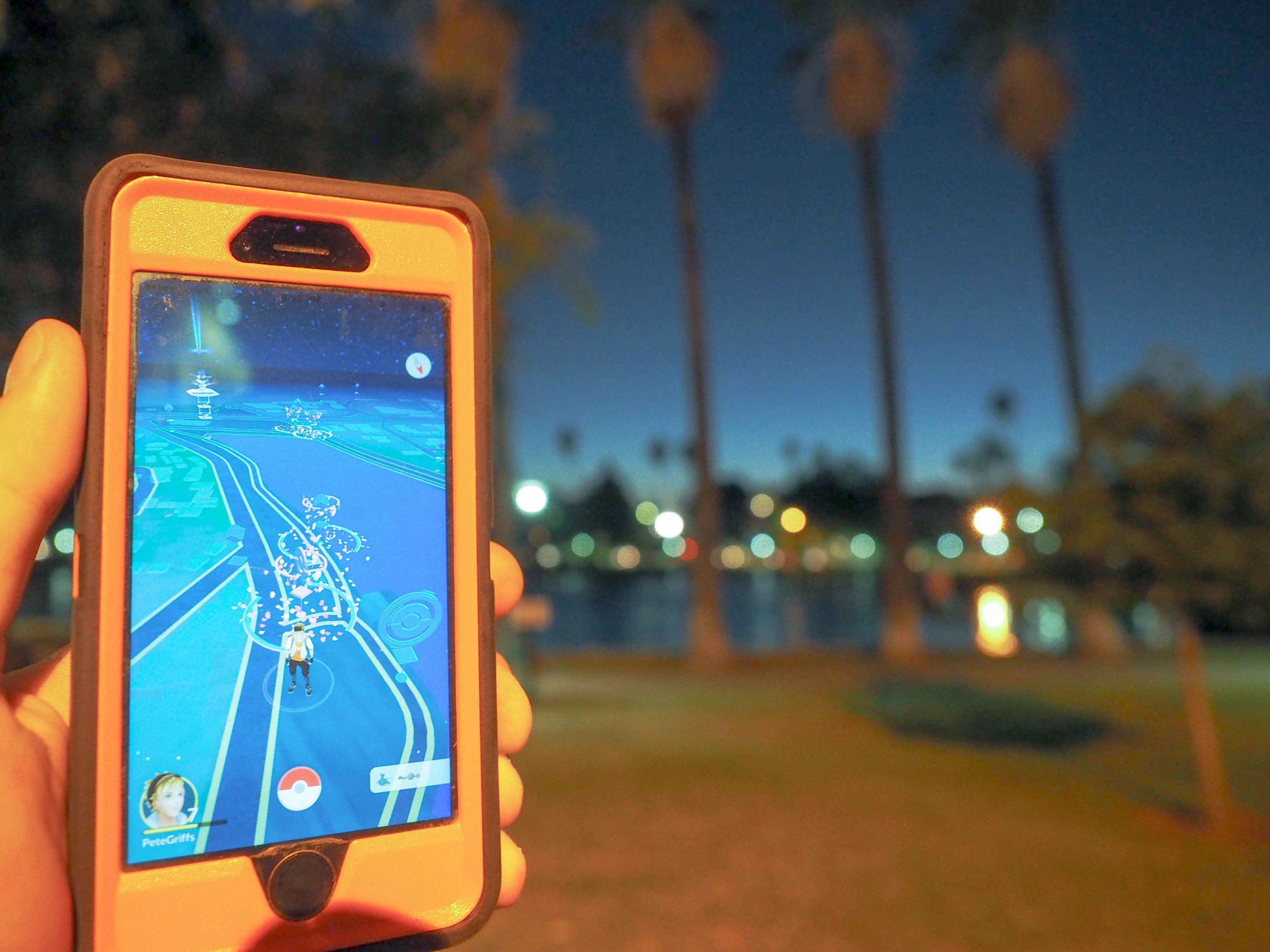 LOS ANGELES, CA - JULY 16: Pokemon Go players are seen in search of Pokemon and other in game items at Echo Park on July 16, 2016 in Los Angeles, California.  (Photo by PG/Bauer-Griffin/GC Images)