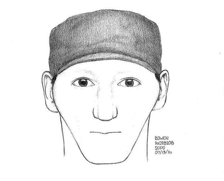 Police released this sketch of the suspect shortly before his arrest.