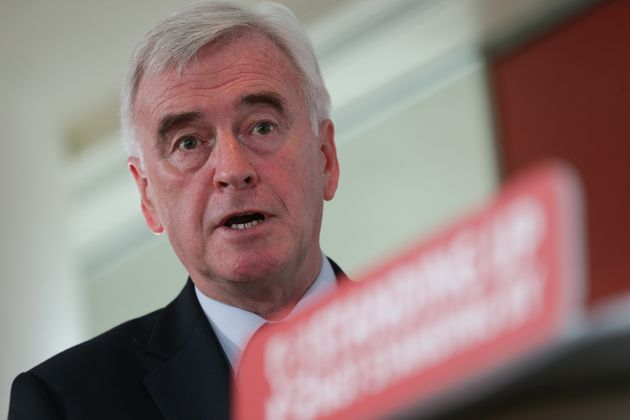 Shadow Chancellor John McDonnell delivers a speech at the Royal Festival Hall,