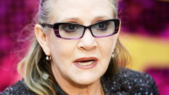 LONDON, ENGLAND - JUNE 29:  Carrie Fisher attends the World Premiere of 'Absolutely Fabulous: The Movie' at Odeon Leicester Square on June 29, 2016 in London, England.  (Photo by Dave J Hogan/Dave J Hogan/Getty Images)