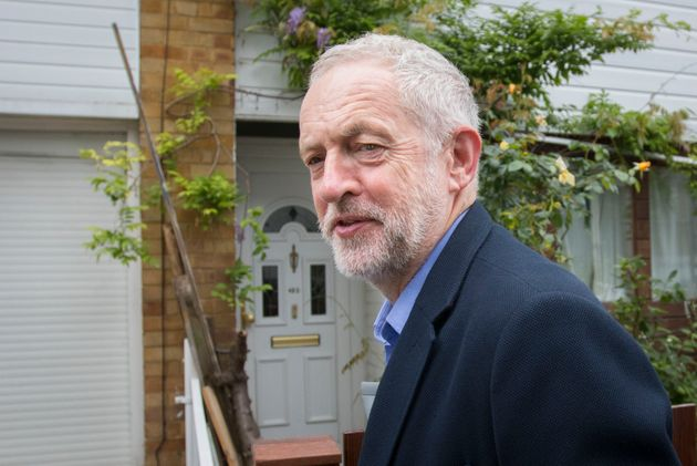Labour Party leader Jeremy Corbyn leaves his home in north