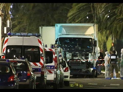 The truck the night of the attack