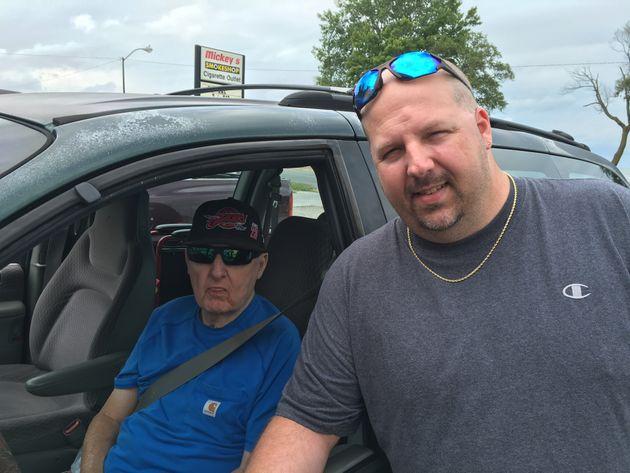 Dan Petersen and his dad, Ron, in Port