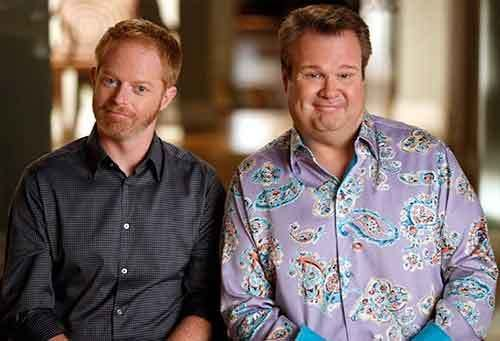 "(L to R) Jesse Tyler Ferguson and Eric Stonestreet on ABC's ""Modern Family."""