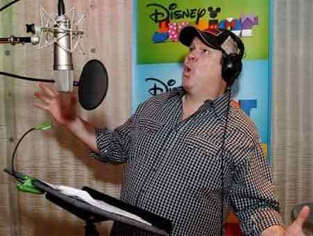 "Eric Stonestreet in the booth recording lines for ""Sofia the First"""