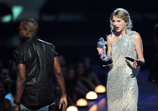 Kanye West and Taylor Swift in