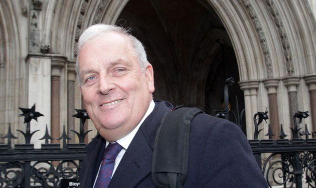 Kelvin MacKenzie leaves the High Court after giving evidence to the Leveson