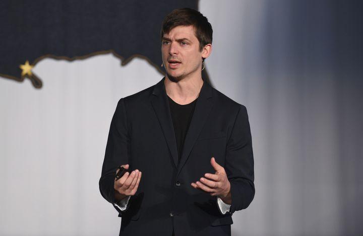 Hampton Creek CEO Josh Tetrick speaks in New York on Nov. 7, 2015. Tetrick recently published a critical letter to presumptiv