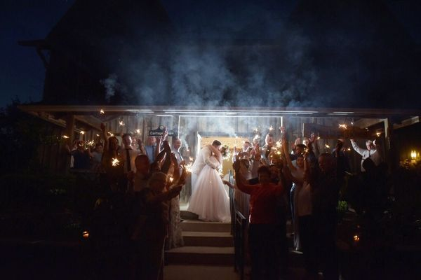 """""""Dominique and Chris's wedding at the Elm Hurst Inn in Ontario was truly like something out of a fairy tale!"""" --<i>Heat"""