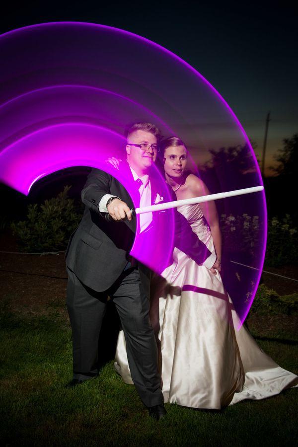 """Lori and Mike at their'Star Wars'-themed wedding in Niagara-on-the-Lake."" -- <i>Joseph Michael</i>"