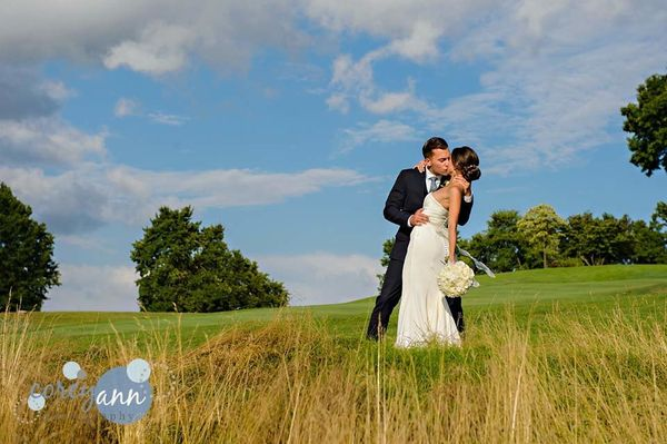 """""""Kristen and Ryan were married on Saturday in Canton, Ohio at Brookside Country Club after a downpour delayed the ceremony bu"""