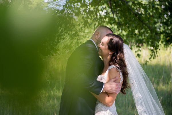 """""""Leanna and Lukasz said 'I do!' to one another over the weekend at a beautiful wedding ceremony in London, Ontario, Canada. T"""