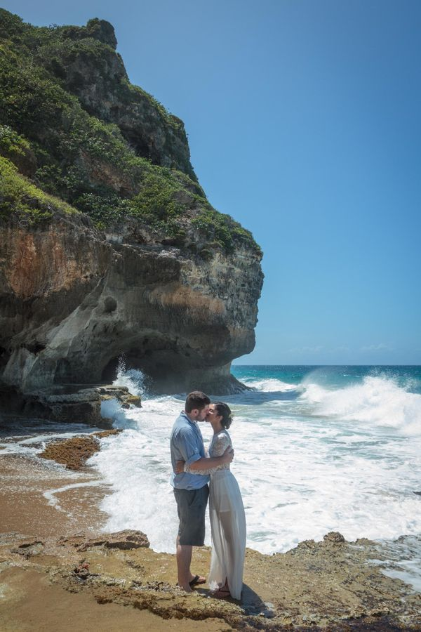 """""""Kayla and Tom's beautiful Puerto Rico wedding took place on the beach at the exquisite Royal Isabela boutique resort."""" -- <i"""