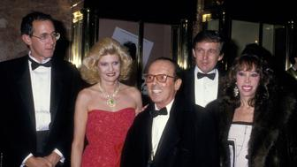 Tony Schwartz, Ivana Trump, Francesco Scavullo, Donald Trump, and guest (Photo by Ron Galella/WireImage)