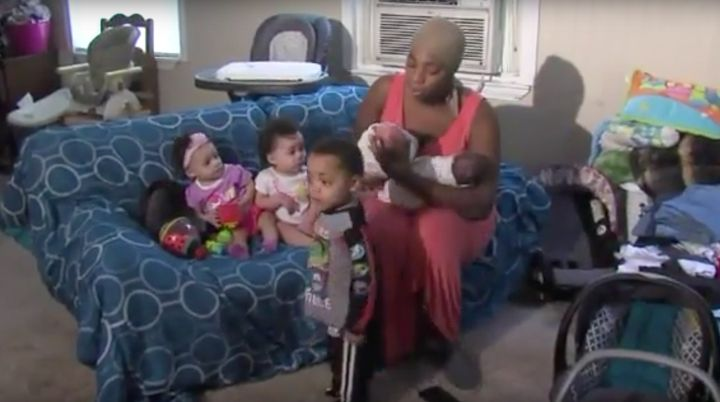 All hands: The 20-year-old recently gave birth to her third set of twins within the last 26 months.