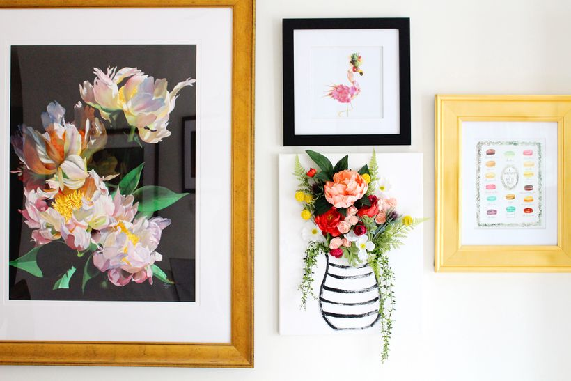 Diy 3 D Flower Canvas Wall Art Huffpost