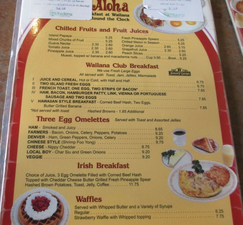 The Wailana Coffee House in Waikiki is a popular breakfast spot due to its great food and reasonable prices.