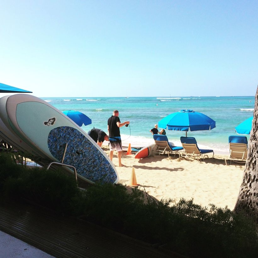Our view during breakfast at the Shorebird, located in the Outrigger Reef on the Beach.