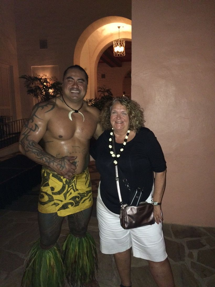 I couldn't miss the opportunity to have this picture taken with the fire dancer from 'Aha'aina: A Royal Luau, whi