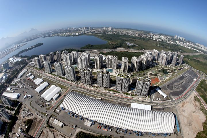 Work on the Olympic Athlete Village in Rio de Janeiro is still underway just a few weeks before the games.