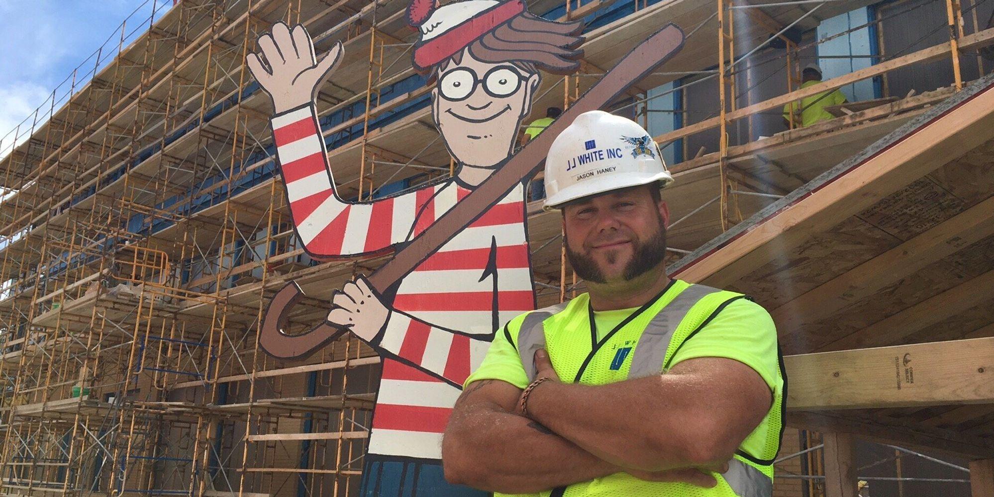 Construction Work Hides Waldo On Site For Kids In Hospital Next Door