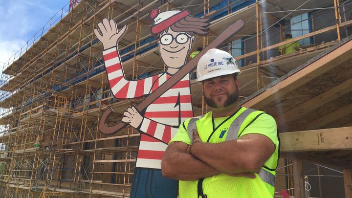 Jason Haney with Waldo.