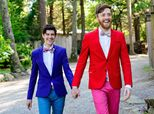 19 Dapper Grooms Who Rocked Some Colorful Wedding Attire