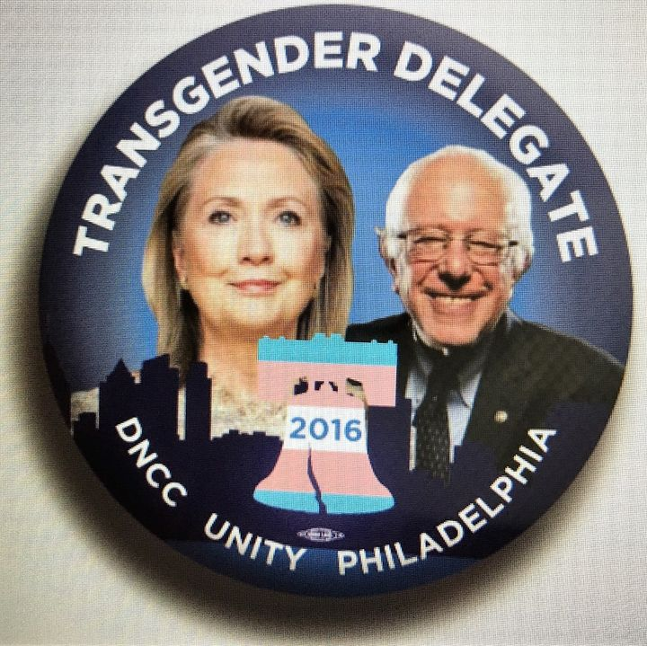 <strong>The 2016 DNCC Transgender Delegate Button&nbsp;</strong>