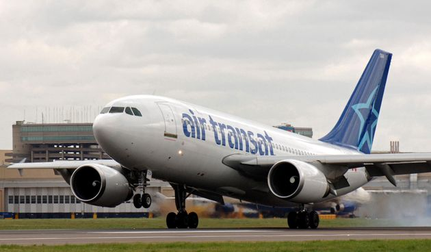 The Air Transat flight was set to leave from Glasgow [file