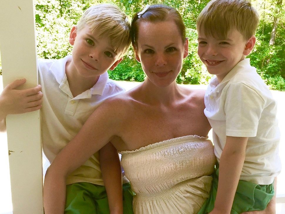 Clevenger with her sons.