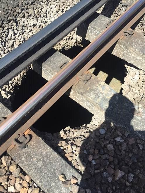 Network Rail engineers are repairing the