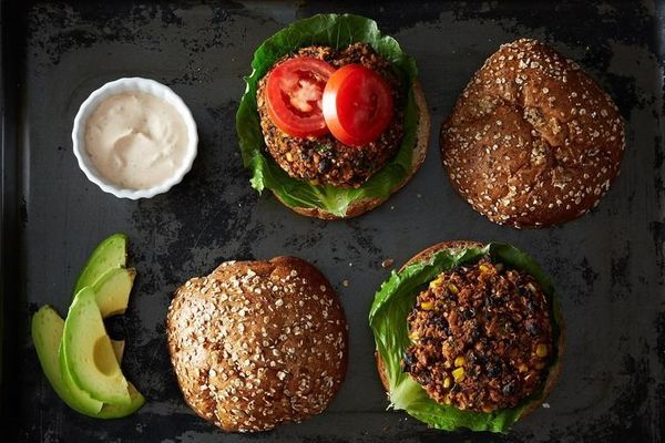 "<strong>Get the <a href=""http://food52.com/recipes/19635-black-bean-and-quinoa-veggie-burgers"" target=""_blank"">Black Bean and"