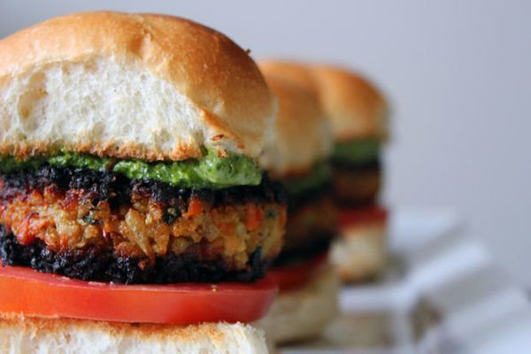 "<strong>Get the <a href=""http://food52.com/recipes/20511-veggie-masala-burgers-with-cilantro-chutney-aioli"" target=""_blank"">V"