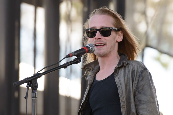 Macaulay Culkin of The Pizza Underground performs on Sept. 13, 2014 inChicago.
