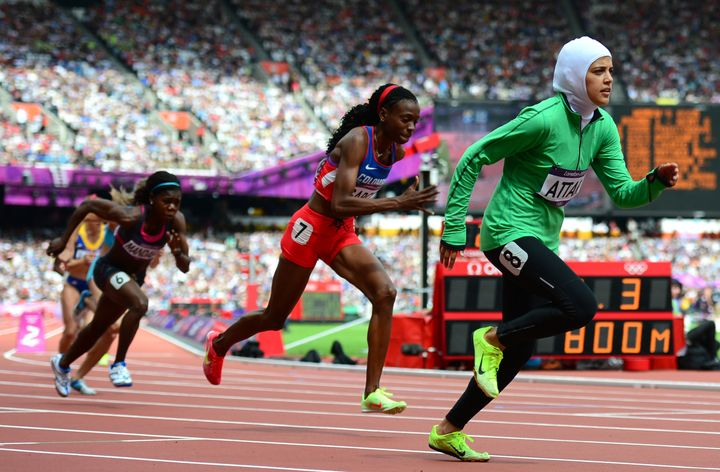 Attar (pictured at the 2012 Summer Games) leads a contingent of four Saudi women to Rio.