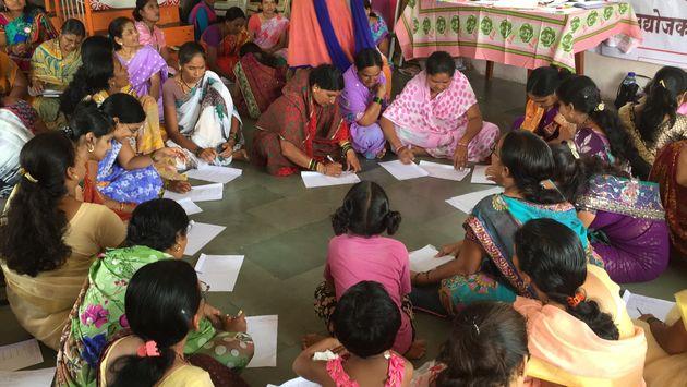 Women attending a Mann Deshi