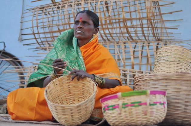 Baby, a woman who received a loan from the Mann Deshi bank for 12,000 rupees and was able to open a shop...
