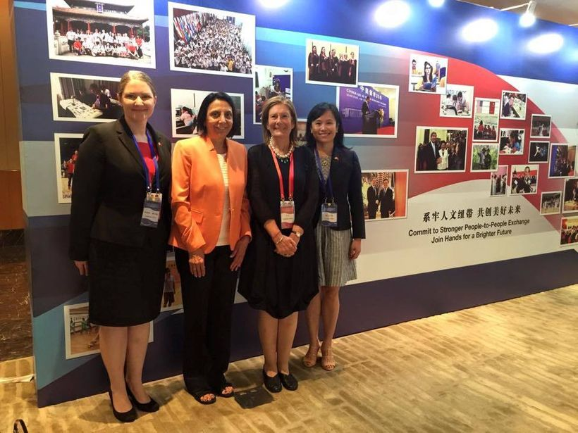 Members of the US delegation to the US-China People to People Exchange (Beijing, June 2016).