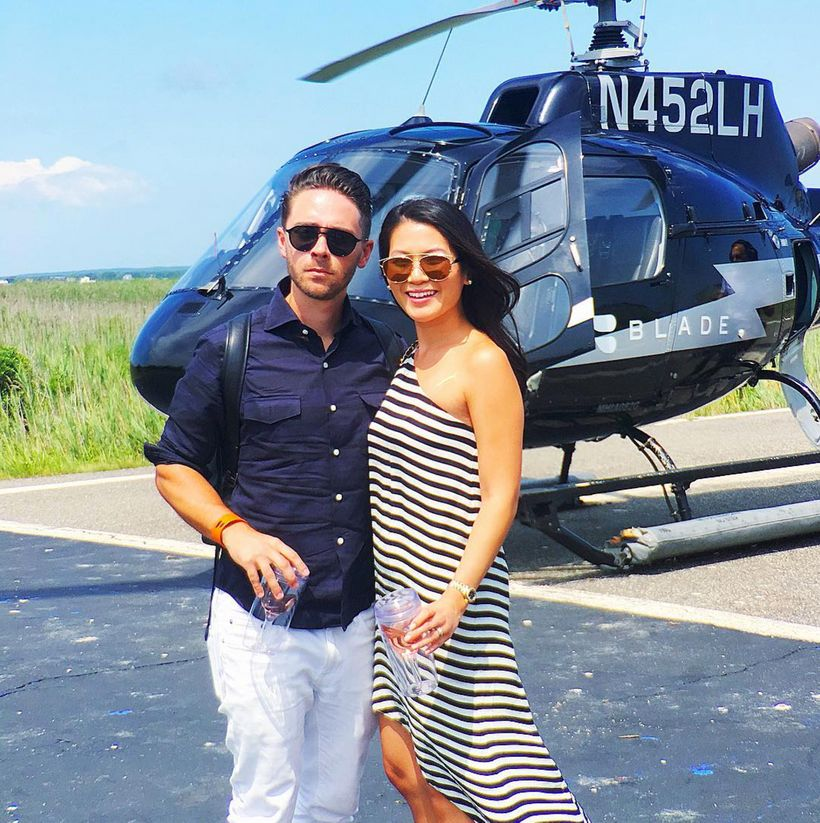 I got invited to fly on a private chopper from my fashion blog