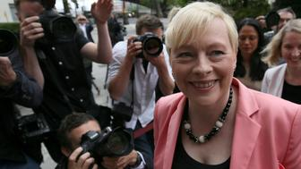 Britain's opposition Labour Party leadership hopeful Angela Eagle arrives at a news conference in London, Britain July 11, 2016. REUTERS/Neil Hall