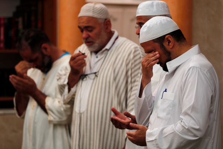 Imams held prayers for three of those killed in Thursday's attack, including 4-year-old Kylan Mejri and his mother Olfa Kalfa