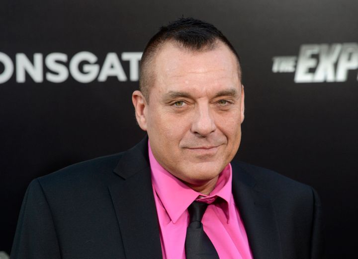 """Tom Sizemore at the premiere """"The Expendables 3"""" in Los Angeles in 2014."""