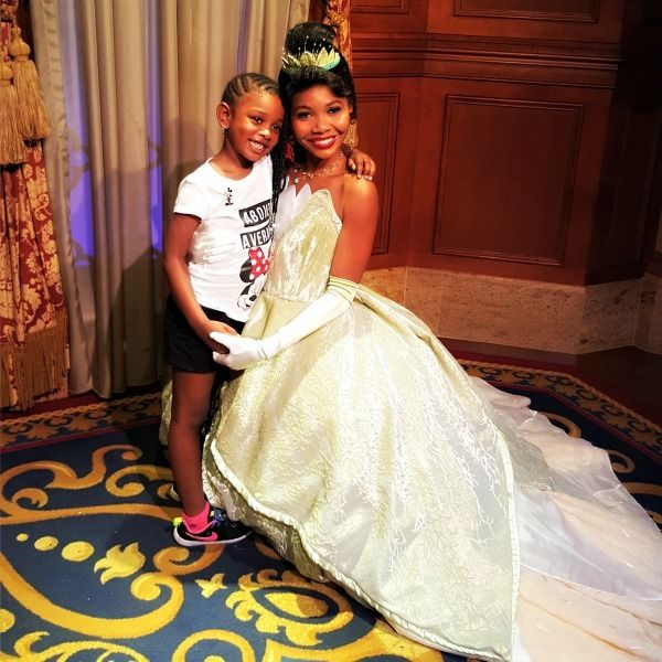 Makayla-Ola meets Princess Tiana.&nbsp;<strong>Note: Princess Tiana is located in Magic Kingdom, not at Akershus Royal Banquet Hall.</strong>