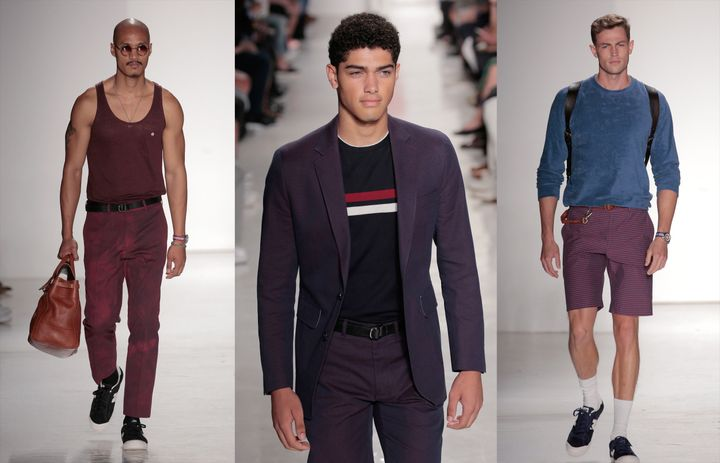 Three looks from the Todd Snyder fashion show atNew York Fashion Week: Men's S/S 2017 in New York City on July 14, 2016.