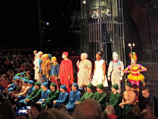 La Nouba by Cirque du Soleil performers.